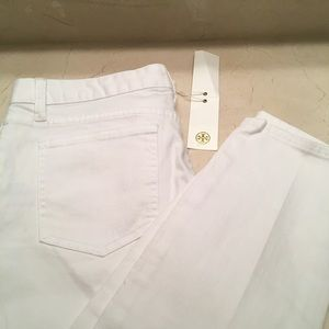 Tory Burch cropped skinny jeans NWT